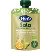 Sólo fruta eco de pera-plátano-naranja HERO, doypack 100 g