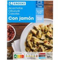 Alcachofas con jamon EROSKI, bandeja 260 g