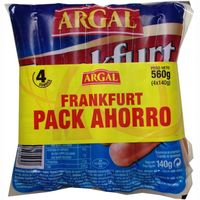 Salchichas Frankfurt ARGAL, pack 4x140 g
