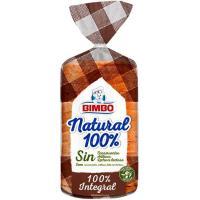 Pan de molde 100% natural integral BIMBO, paquete 450 g