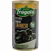 Aceitunas negras sin hueso FRAGATA, lata 150 g