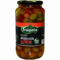 Aceitunas manzanillas gazpachas FRAGATA, frasco 595 g