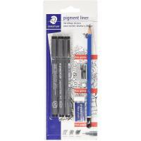 Set dibujo: rotulador de 0,2, 0,4 y 0,8 mm, lápiz, goma de borrar y afilalápices