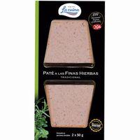 Paté a las finas hierbas LA CUINA, pack 2x50 g