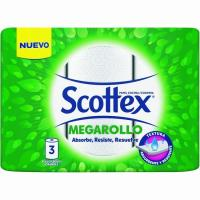 Papel de cocina SCOTTEX Megarollo, paquete 3 rollos
