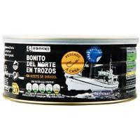 Bonito MSC en trozos en aceite girasol EROSKI, lata 900 g