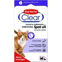 Pipeta Dimetic para gato CLEAR, caja 3 unid.