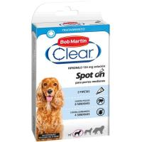 Pipeta fipron para perro mediano CLEAR, pack 2 unid.
