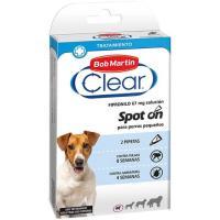 Pipeta fipron para perro pequeño CLEAR, pack 2 unid.