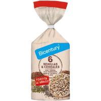 Tortitas arroz semillas&cereales BICENTURY, paquete 111,8 g