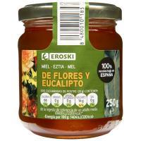 Miel de flores-eucalipto EROSKI, frasco 250 g