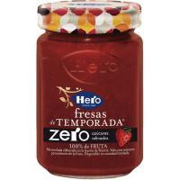 Mermelada de fresa de temporada zero HERO, frasco 285 g