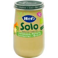 Potito ecológico de crema de calabaza-patatas HERO, tarro 190 g