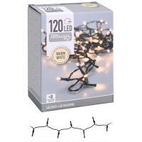 Guirnalda de Navidad con 120 luces Led blanco-cálido con controlador de 8 funciones.