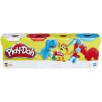 Bote PLAY-DOH,pasta de moldear, sutidos sorpresa, edad rec:+2 años, pack 4uds