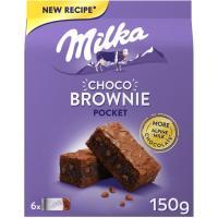 Galleta choco brownie MILKA, paquete 150 g