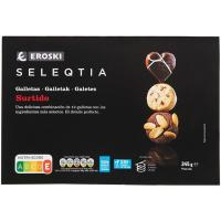 Surtido galletas especialidades Eroski SELEQTIA, caja 245 g