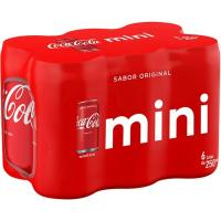 Refresco de cola mini COCA COLA, pack 6x25 cl