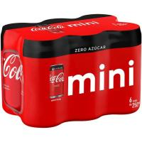 Refresco de cola COCA COLA Zero, pack 6x25 cl