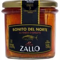 Bonito aceite de oliva-pimiento de Ezpeleta ZALLO , frasco 220 g