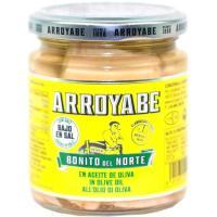 Bonito del norte en a. de oliva bajo sal ARROYABE, frasco 227 g