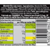 Carne de membrillo con nueces Eroski SELEQTIA, tarrina 200 g