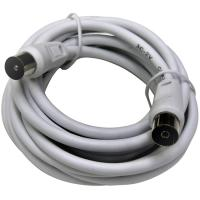 Prolongador de cable de TV macho-hembra blanco EUROBRIC, 2,5m