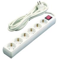 Base de 6 tomas con interruptor de 16A cable EUROBRIC, 1,5m.