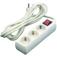 Base de 3 tomas con interruptor de 16A cable EUROBRIC, 3m.
