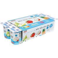 Yogur 0%0% mango-piña-pera-coco EROSKI basic, pack 8x125 g