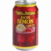 Tinto de verano de limón DON SIMON, lata 33 cl