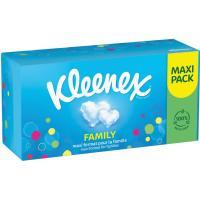 Pañuelo facial family maxi KLEENEX, caja 140 uds.