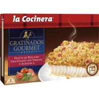 Filete de pescado con tomate-albahaca LA COCINERA, caja 380 g
