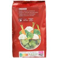 Coliflor-Brócoli-Zanahoria EROSKI, bolsa 750 g