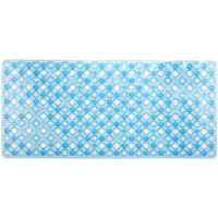 Alfombra antideslizante para baño burbujas azul TOYMA, 73x33cm