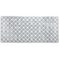 Alfombra antideslizante para baño burbujas blanca TOYMA, 73x33cm