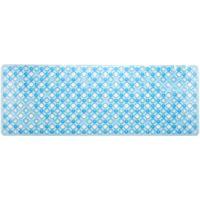 Alfombra antideslizante para baño burbujas azul TOYMA, 93x33cm