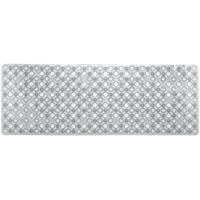 Alfombra antideslizante para baño burbujas blanca TOYMA, 93x33cm