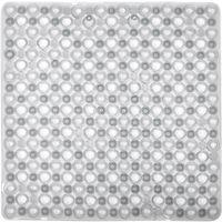 Alfombra antideslizante para baño burbujas blanca TOYMA, 48x48cm