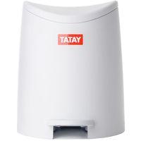 Cubo con pedal de polipropileno blanco TATAY, 3l