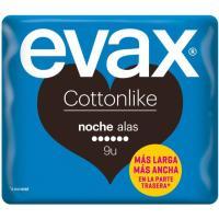 Compresa de noche con alas EVAX Cottonlike, paquete 9 uds.