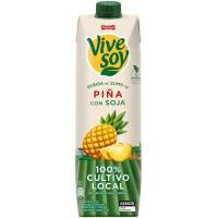 Zumo de piña-soja PASCUAL Vivesoy, brik 1 litro