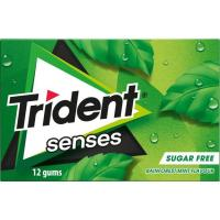 Chicle de hierbabuena TRIDENT Senses Lc, paquete 23 g