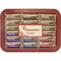 Selección de turrones de chocolate EL ALMENDRO, caja 375 g
