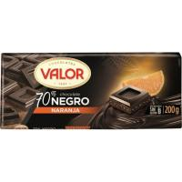 Chocolate 70% de naranja VALOR, tableta 200 g