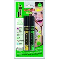 Maquillaje líquido Liner, amarillo y verde ALPINO, Blister 2 uds
