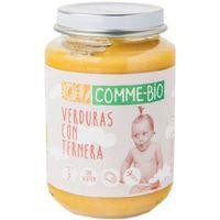 Puré de verduras-ternera COMME-BIO, tarro 200 g