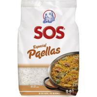 Arroz especial para paella SOS, paquete 1 kg
