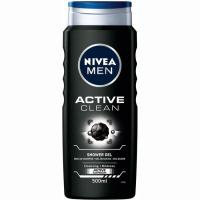 Gel de ducha Active Clean NIVEA Men, bote 500 ml