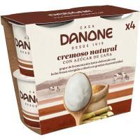 Yogur natural azucarado edición 1919 DANONE, pack 4x125 g